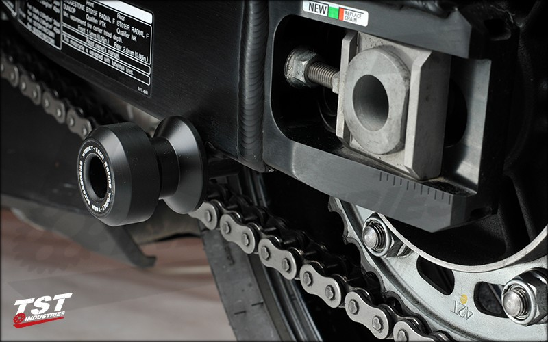 Womet-Tech Delrin Swingarm Spool Sliders.