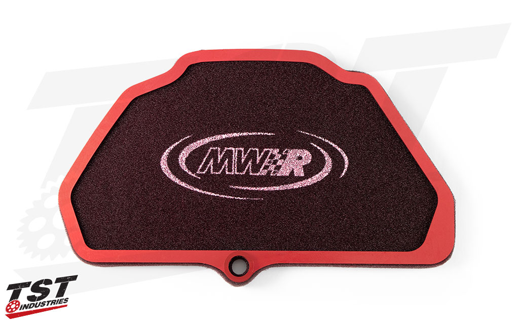 Specifically designed to flow more air than the stock Kawasaki air filter.
