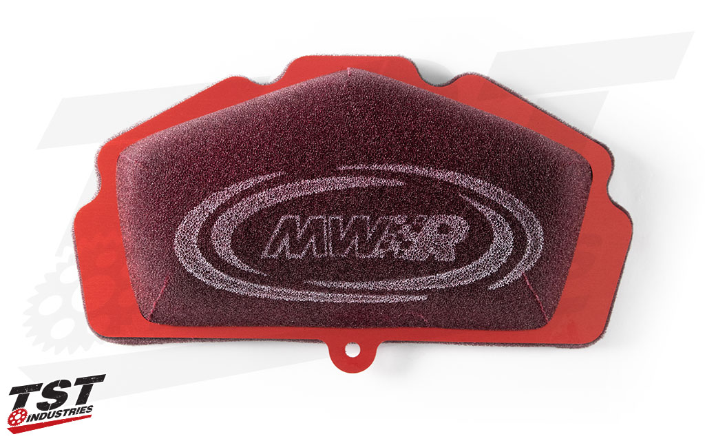 MWR specifically engineered this air filter to flow more air than the OEM counterpart.