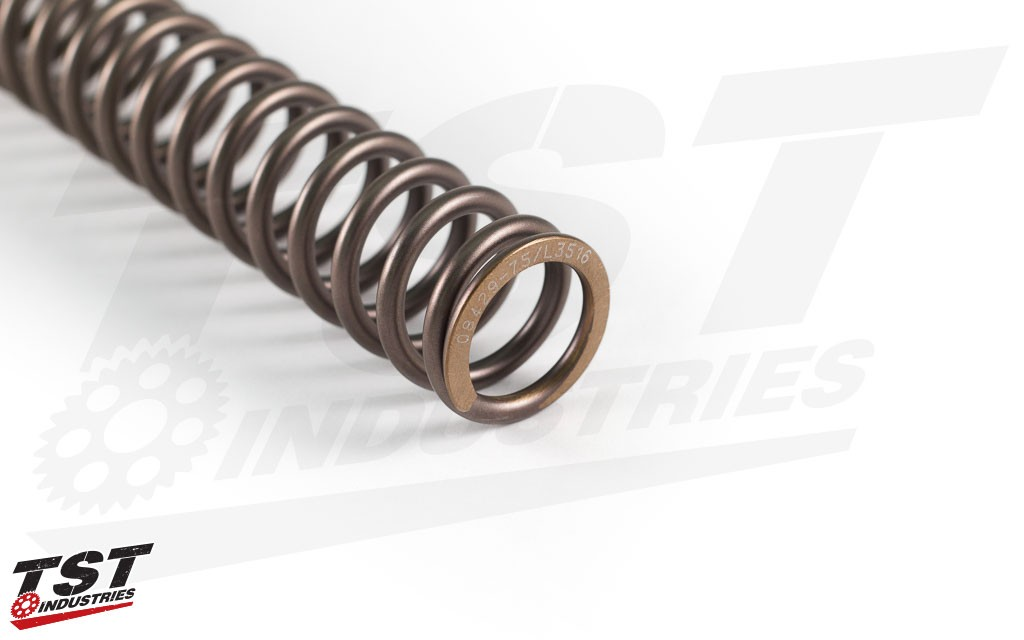 Optional springs come with the perfect spring rate chosen to match your weight and riding style.
