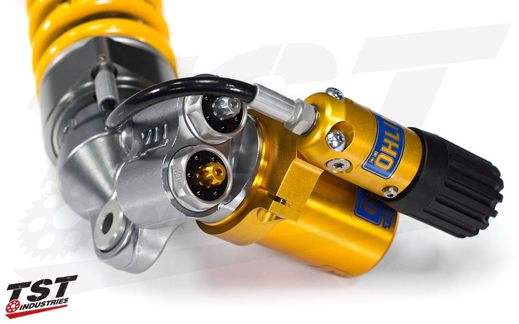 Improve your CBR 600RR with the new TTX GP Rear Shock from Ohlins. (Previous model shown)