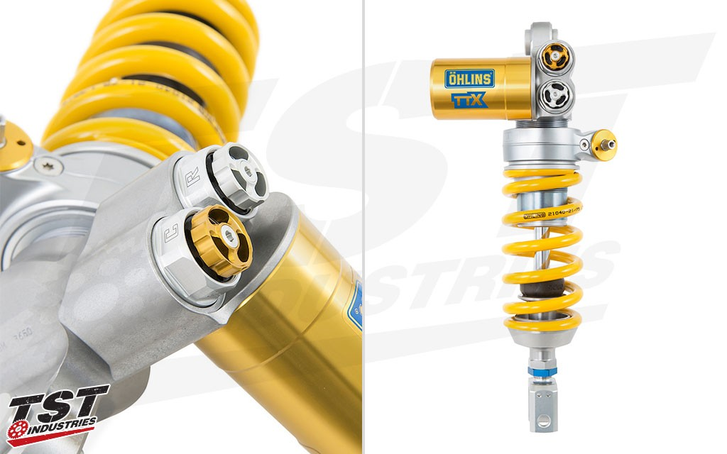 Ohlins TTX GP Rear Shock. The ZX6R 636 unit may differ slightly.