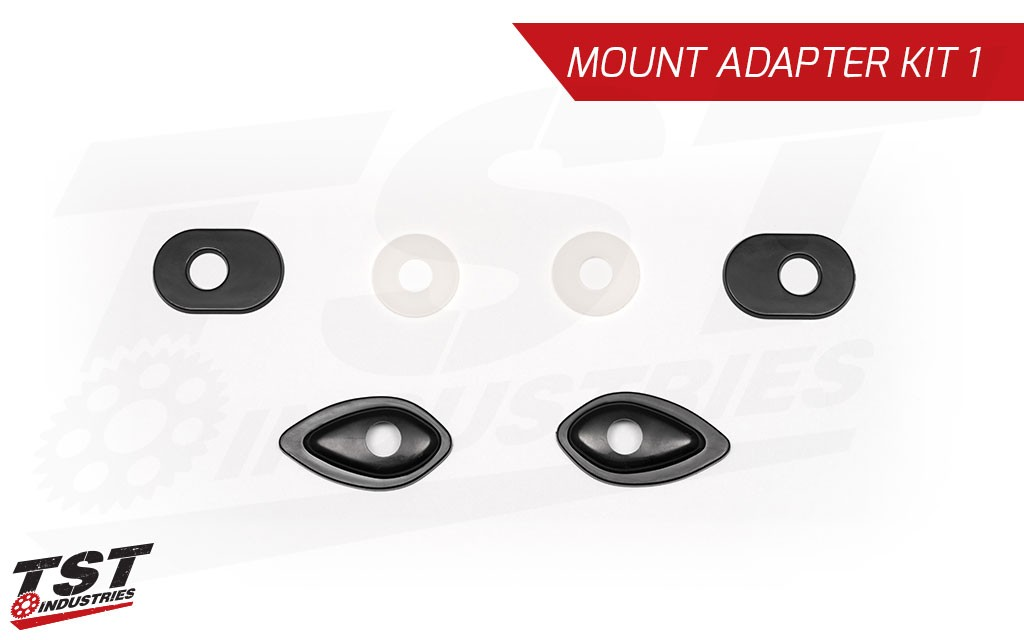 Mount your signals with the easy to use TST Pod Signal Mount Adapter Kit for the Honda.