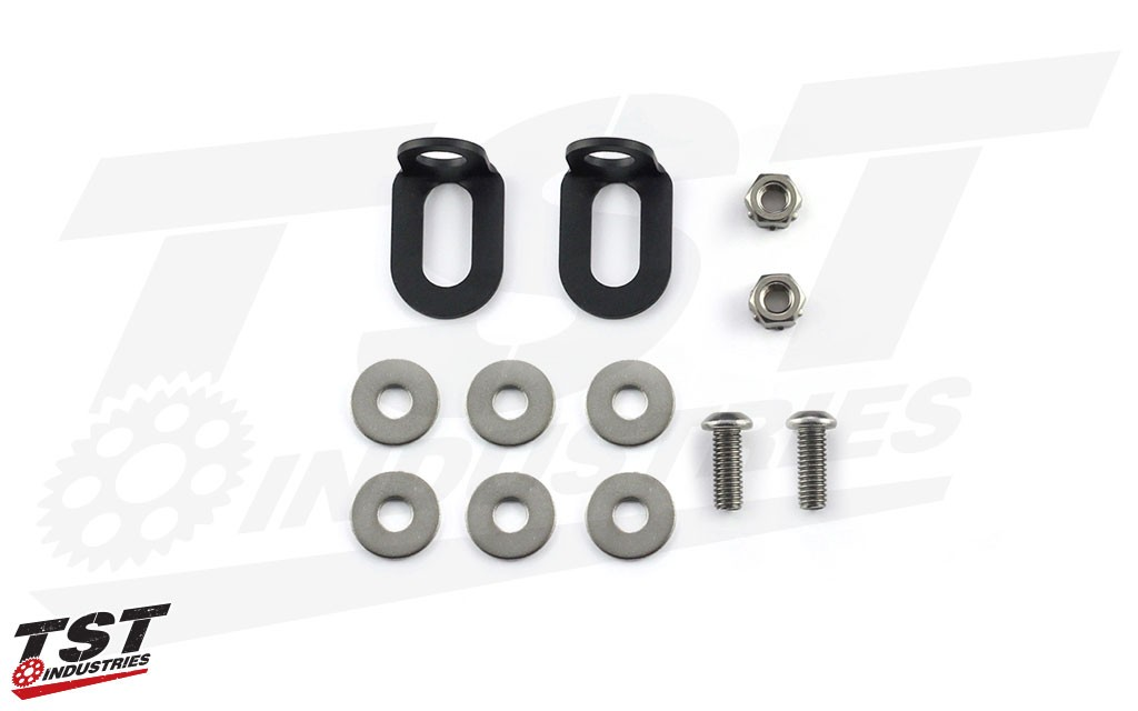 What's included in the TST Industries Pod Signal to License Plate Mounting Kit.