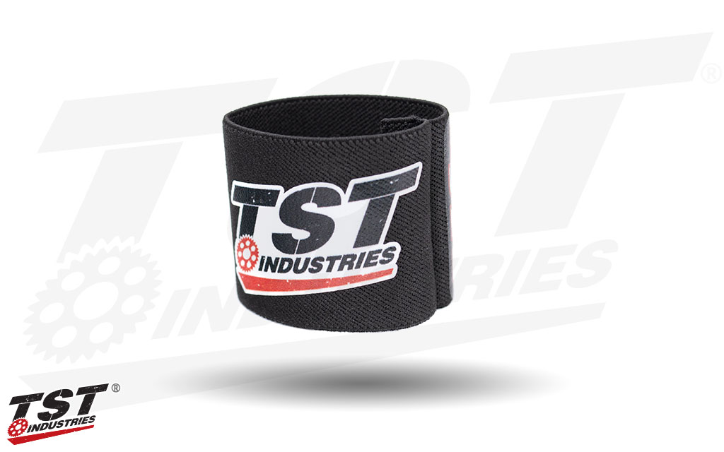 Give your motorcycle's front brake reservoir some TST swag.