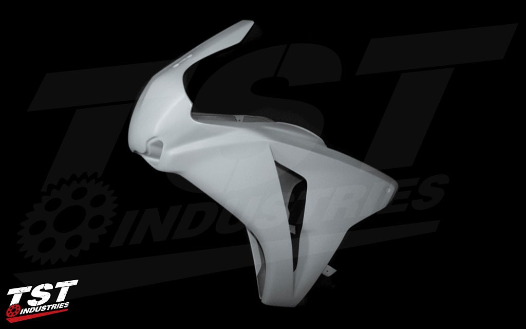 The one piece upper ensures a steady and secure fairing while hitting top speeds on the track.