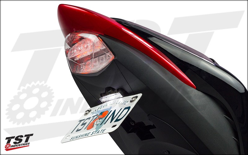 GSX-S1000F License Plate Bracket with Optional Low-Profile Plate Light