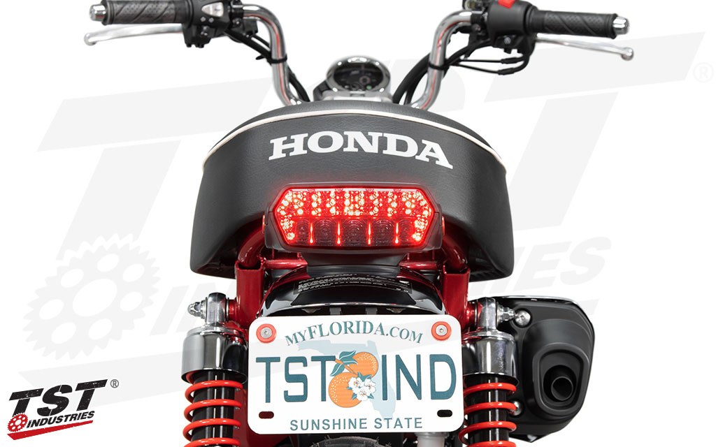 TST Programmable and Sequential LED Integrated Tail Light for Honda Monkey 2019+