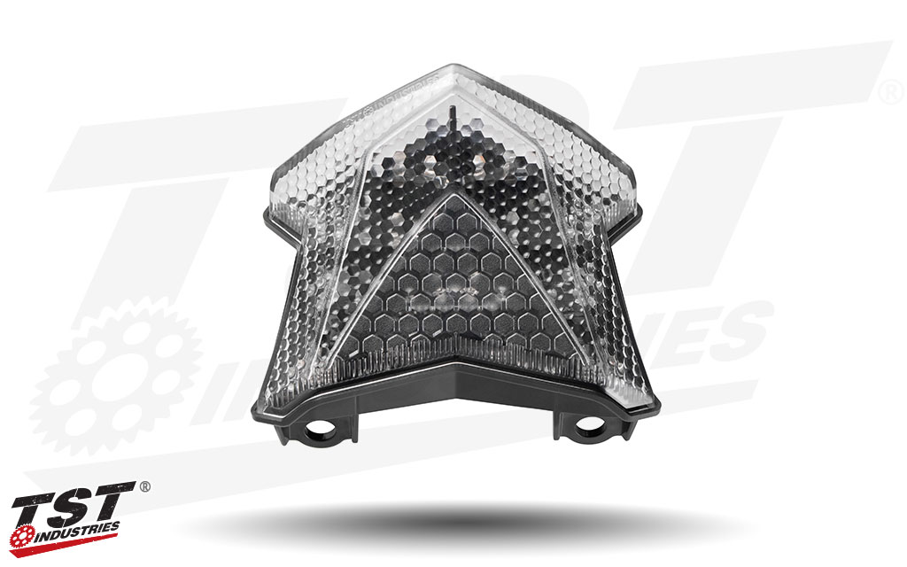 Clear TST Programmable and Sequential LED Integrated Tail Light for Kawasaki Z650 & Ninja 650.