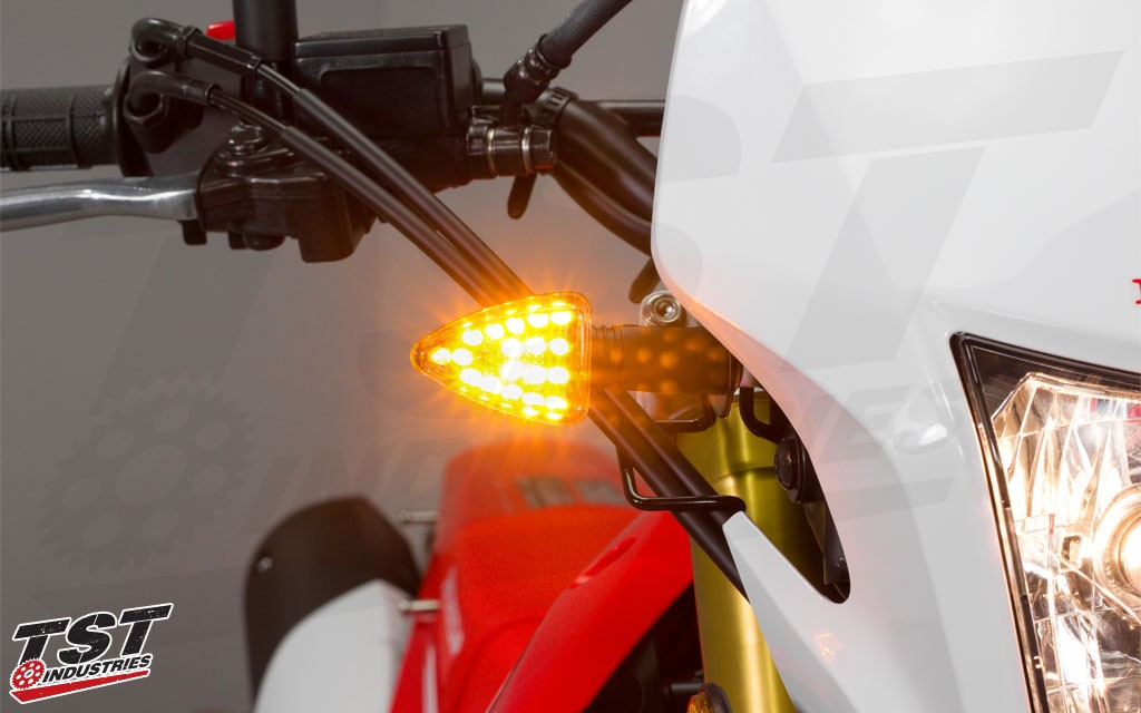 TST ARO18 LED Pod Turn Signals contain 18 super bright LEDs in each signal.