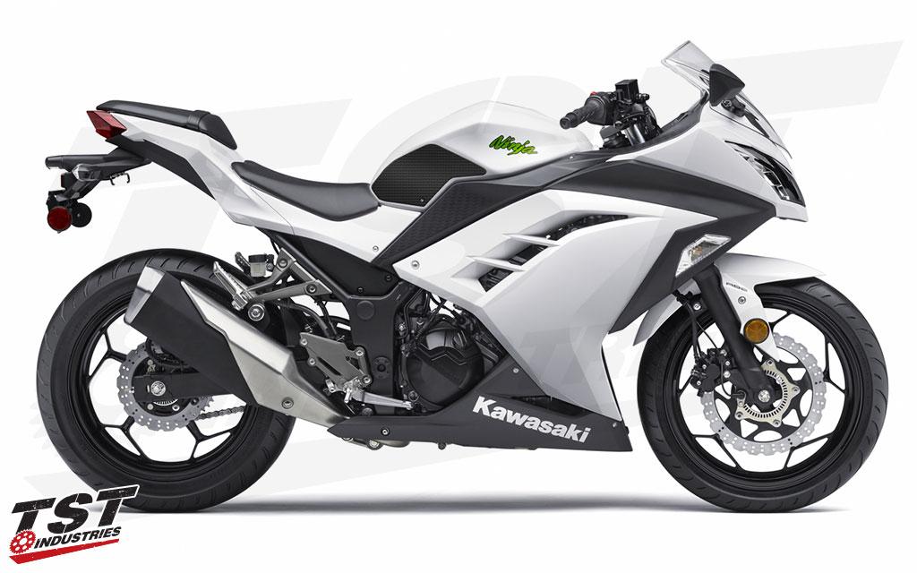 TechSpec Gripster Tank Grips and Protector for Kawasaki 2013-2017 Ninja 300.