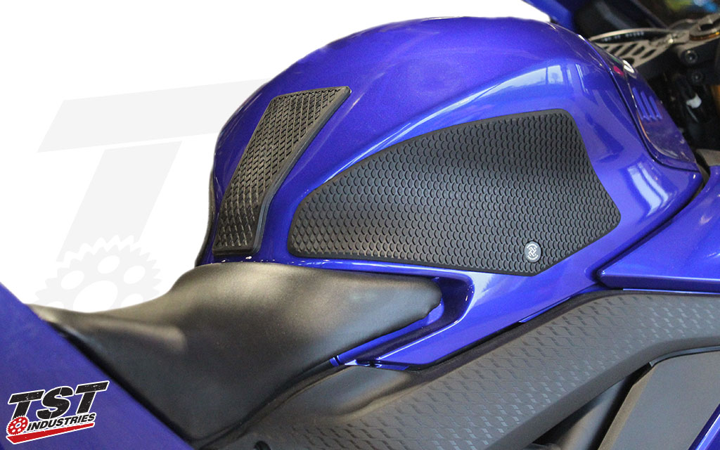 Decrease body fatigue and protect your R3's paint with TechSpec Gripster Tank Grips.