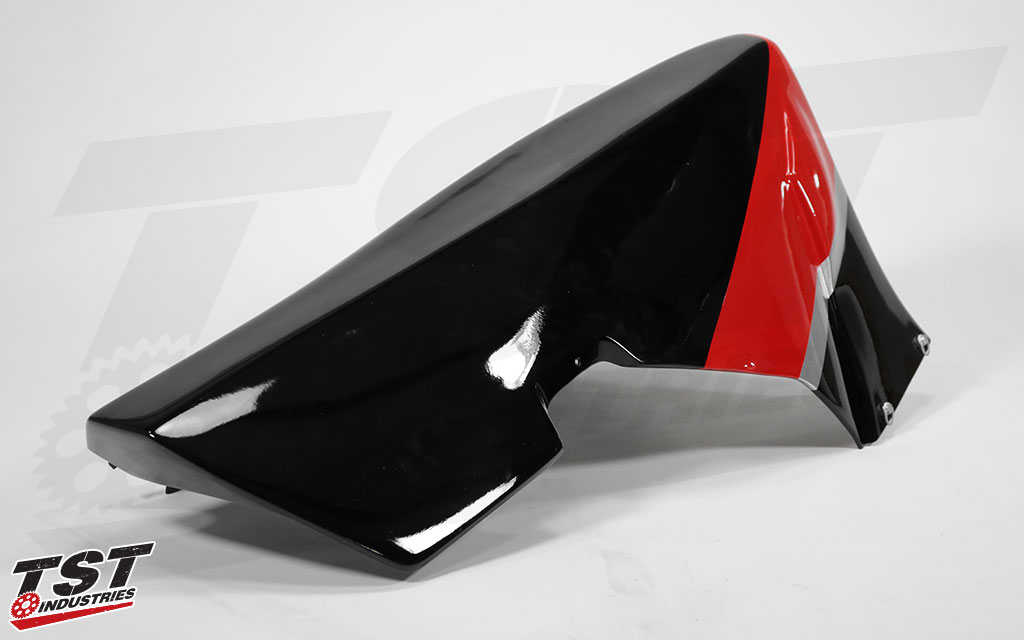 Sharkskinz lower fairing with professional paint job from Andrew Swenson.