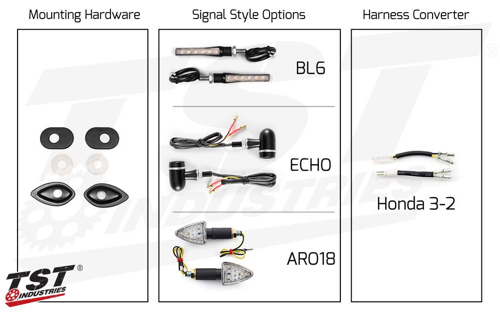 TST Industries LED Front Pod Turn Signal Bundle for 2013+ Honda Grom.