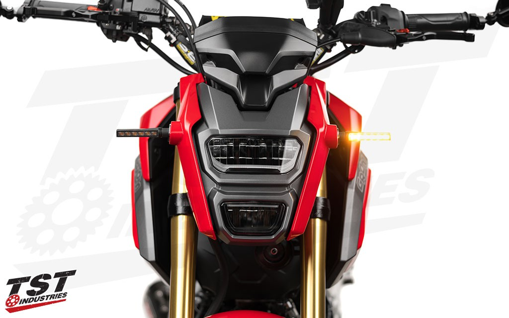 Give your Honda Grom a facelift with updated LED signals. (Smoke BL6 signals shown)