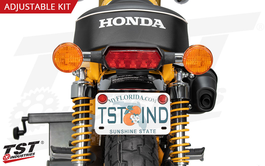 """Keeps your license plate in a """"stock"""" location to remain visible."""