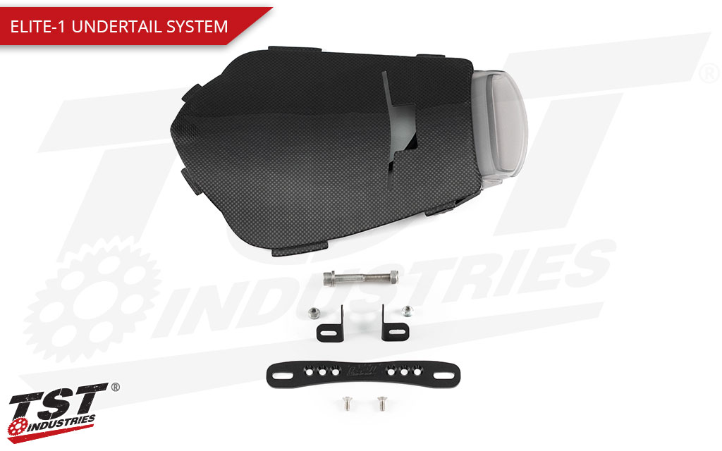 Upgrade your Honda CBR1000RR with the Elite-1 Carbon Fiber Undertail System.