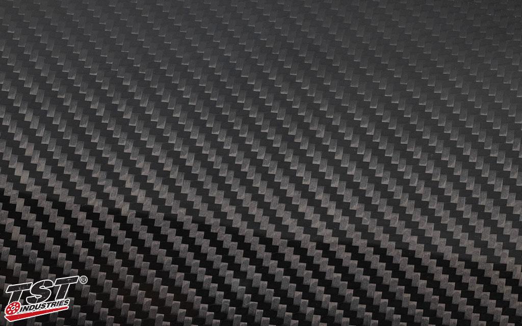 TST twill carbon fiber with a gloss finish.