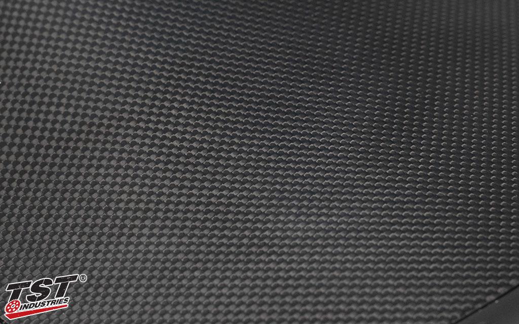TST plain carbon fiber with a gloss finish.