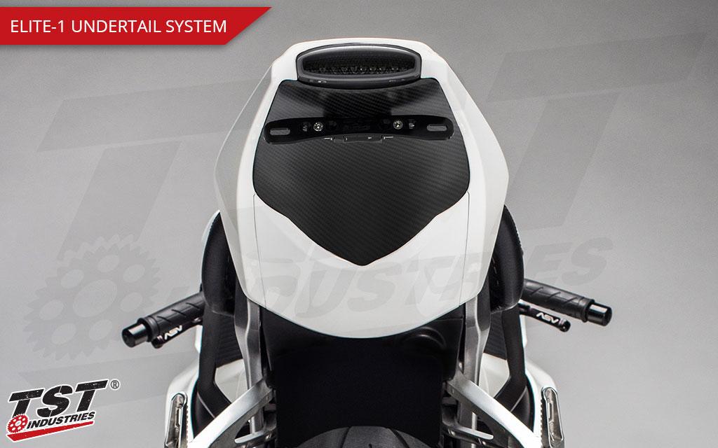 Elite-1 Undertail System shown installed on the Honda CBR1000RR.