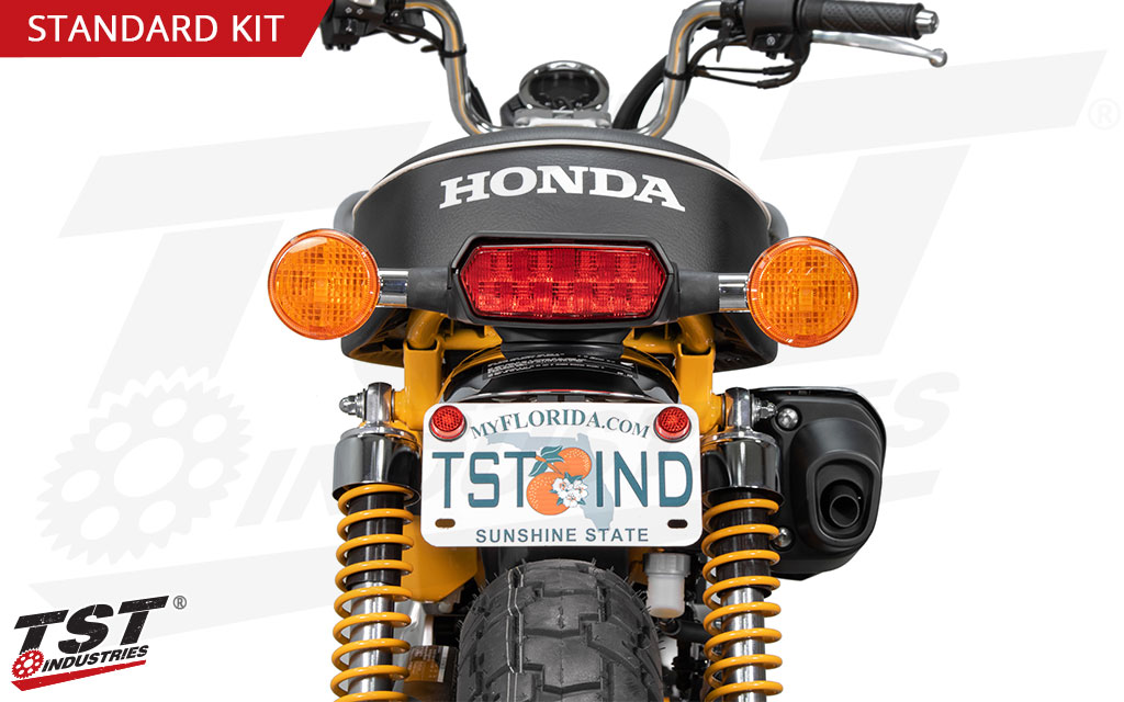 Mount your license plate in a stock location without having to do any drilling.