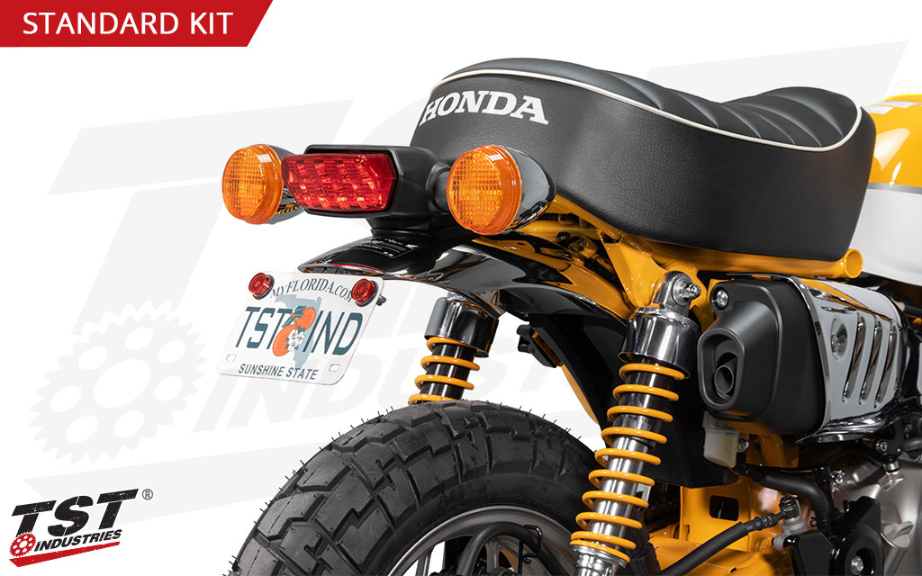 Update your Honda Monkey with an easy to install fender eliminator by TST Industries.