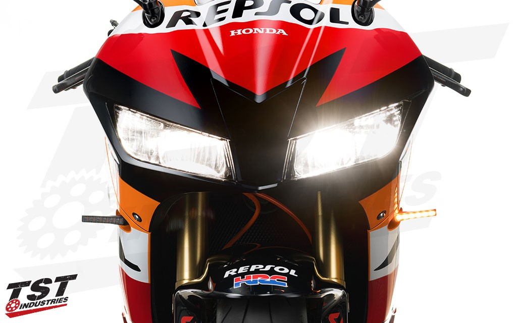 Improve your Honda with bright LED front pod turn signals.
