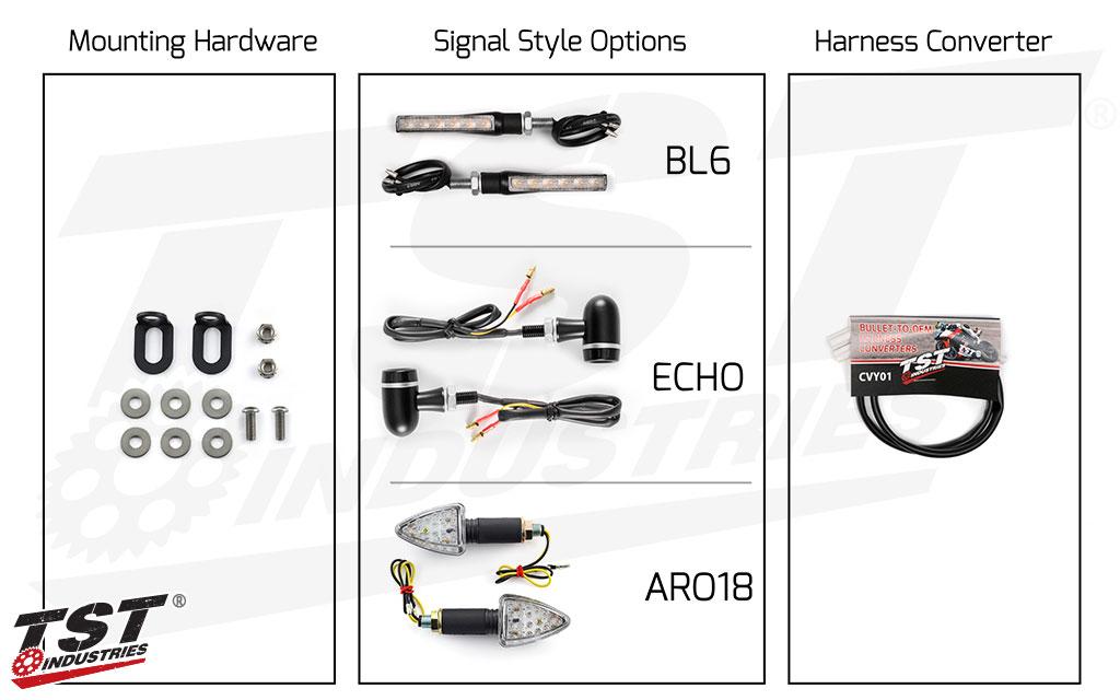 TST LED Rear Pod Turn Signal Bundle for Yamaha.