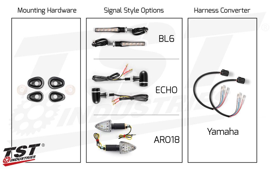 TST LED Front Pod Turn Signal Bundle for Yamaha FZ-10 / MT-10 2016+