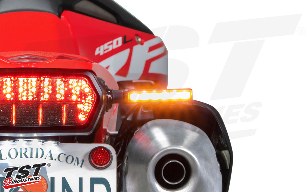 BL6 LED Pod Turn Signals on the 2019+ Honda CRF450L.