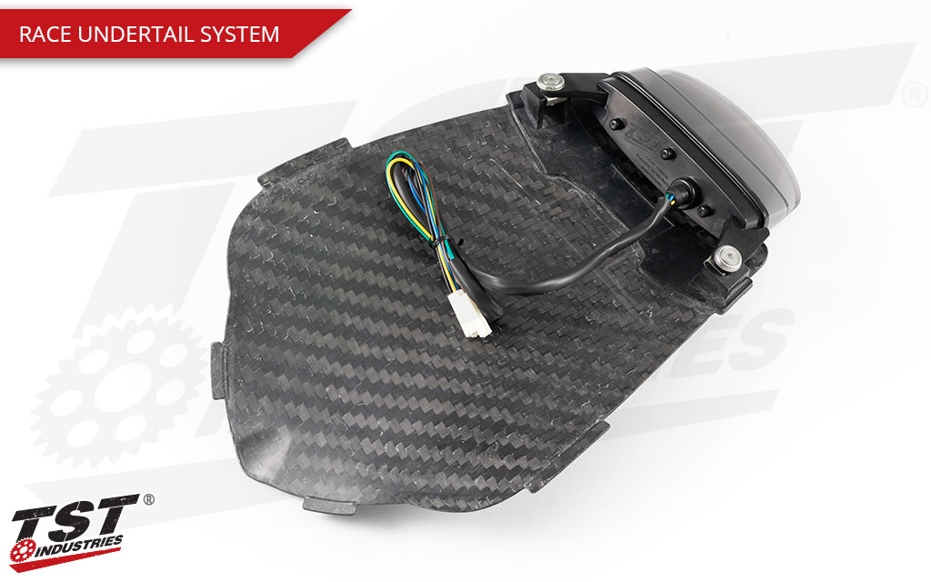 What's included in the Race Carbon Fiber Undertail and Integrated Tail Light System for Honda CBR1000RR 2008 - 2011.
