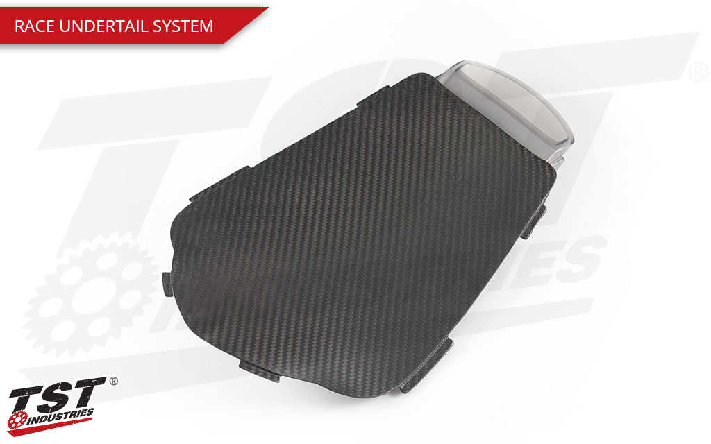 Upgrade your Honda CBR1000RR with the Rac Carbon Fiber Undertail System.