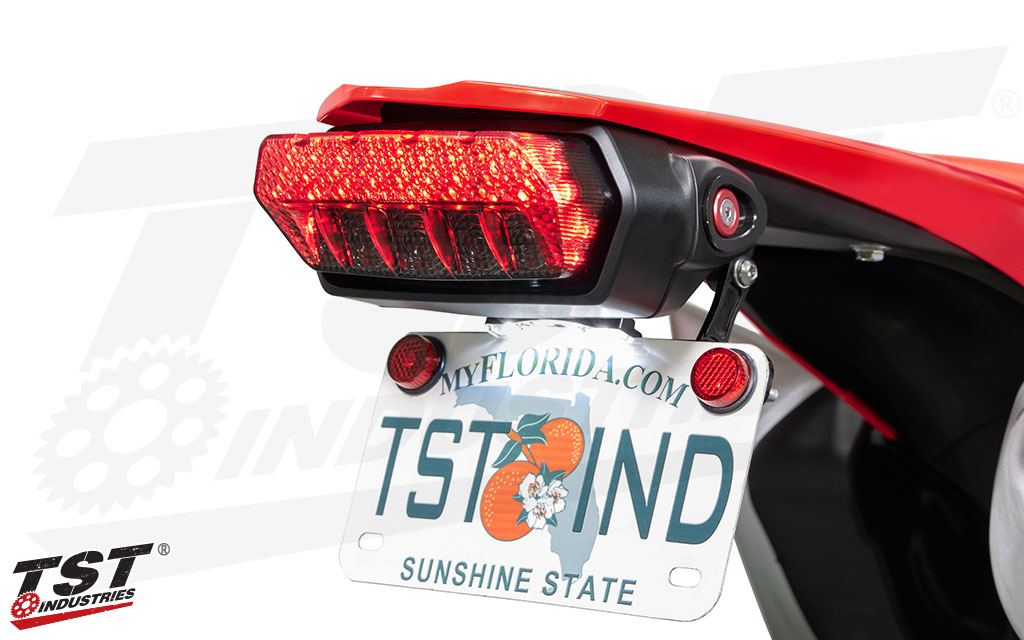 Block off the rear turn signal mounting holes on your Honda CRF450L.
