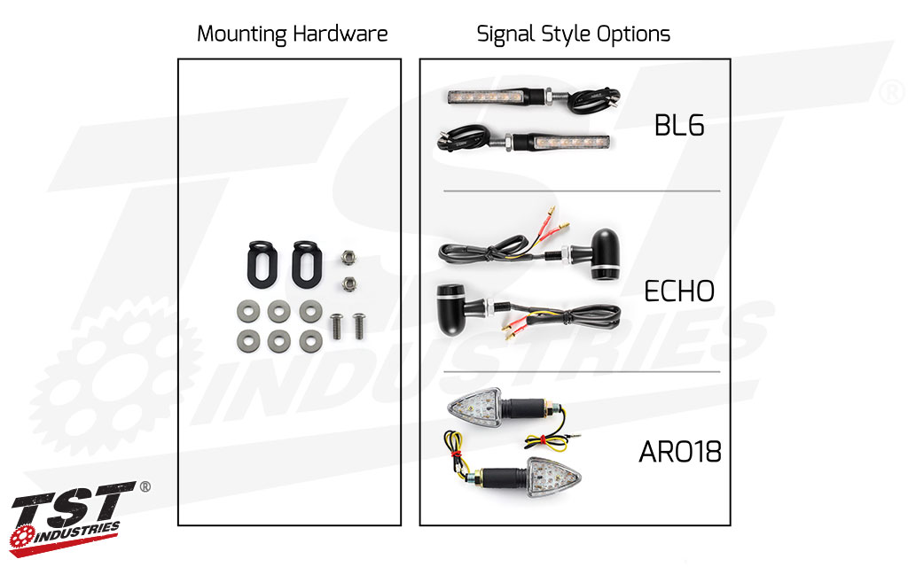 TST Industries LED Rear Pod Turn Signal Bundle.