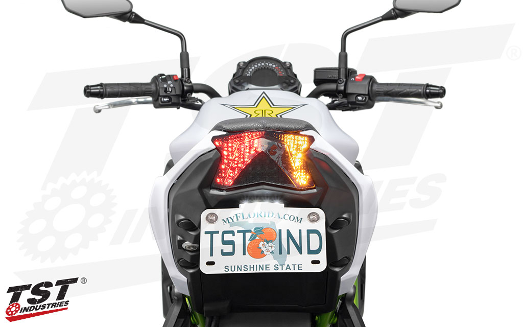 Built-in turn signals powered by super bright LEDs.