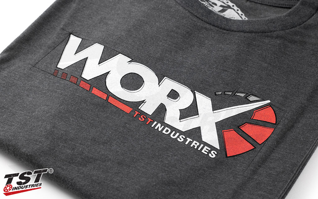 High-quality WORX logo screen print.