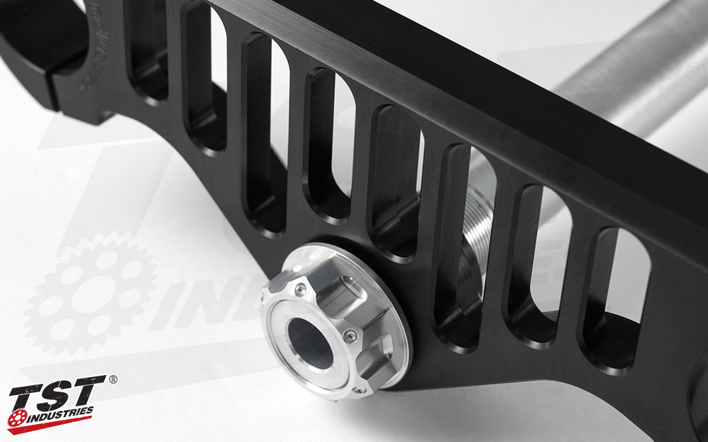 Precision engineering and manufacturing provides real handling improvements during cornering and intense lean angles.