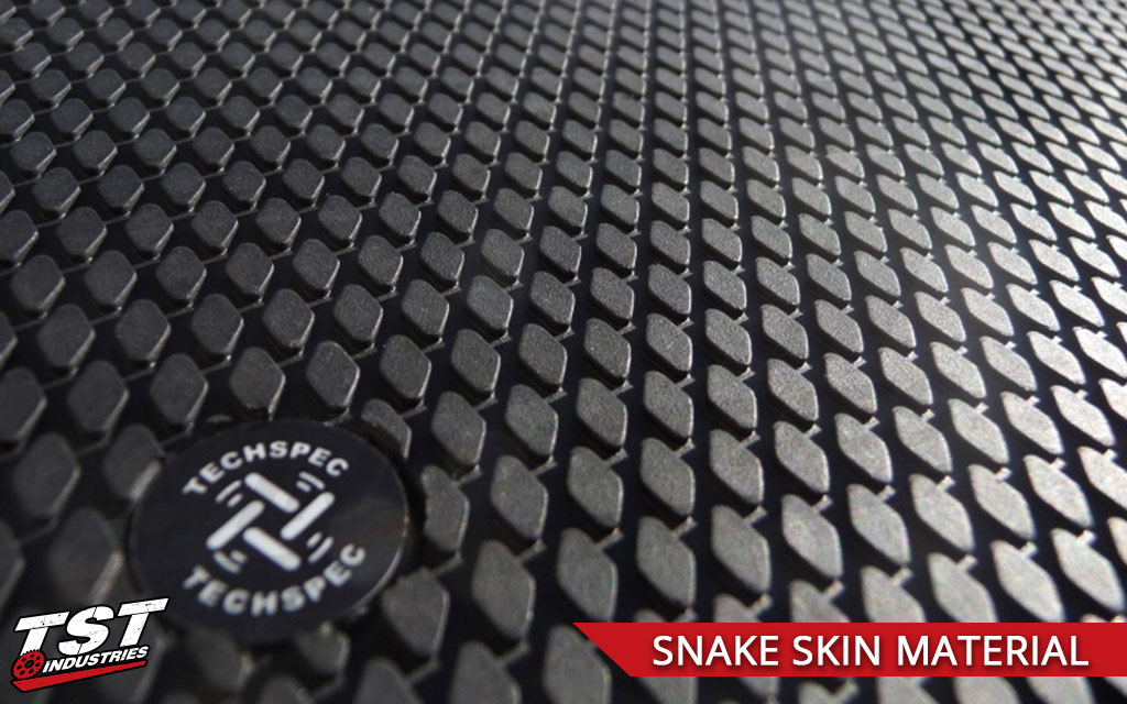 TechSpec Snakeskin material closeup.