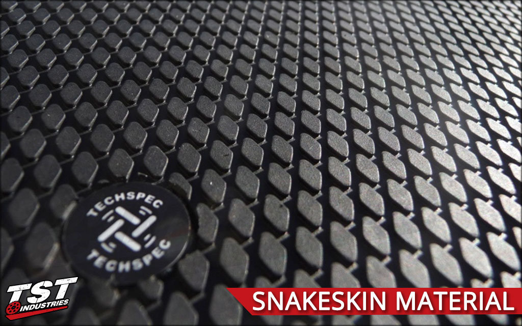 Detailed surface view of the TechSpec Snake Skin material.