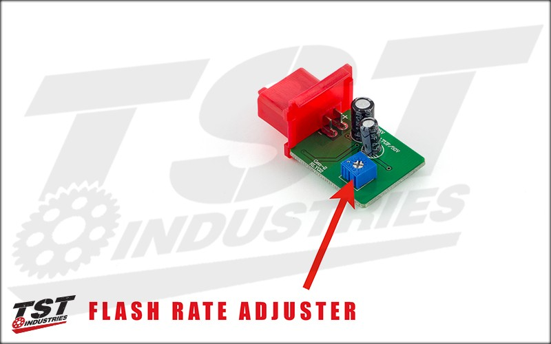 Adjustable Flash Rate.