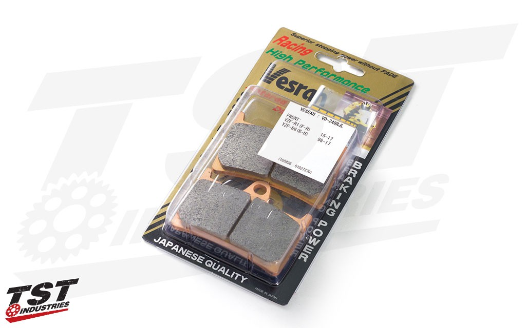 Vesrah RJL Front Brake Pads for Yamaha YZF-R1 and YZF-R6