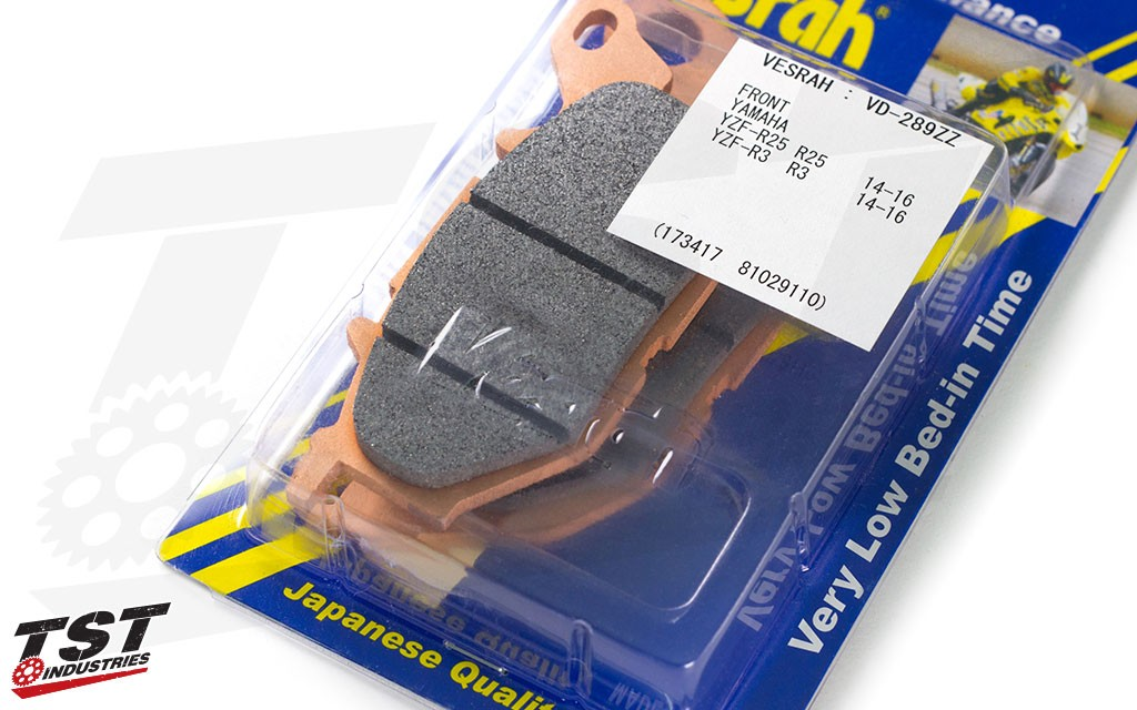 Improve your braking performance with the Vesrah RJL ZZ Front Race Brake Pads