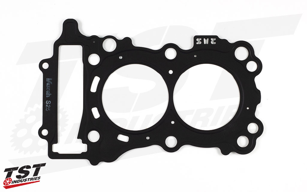 Precision treated surface ensures a high quality gasket for your Yamaha R3.