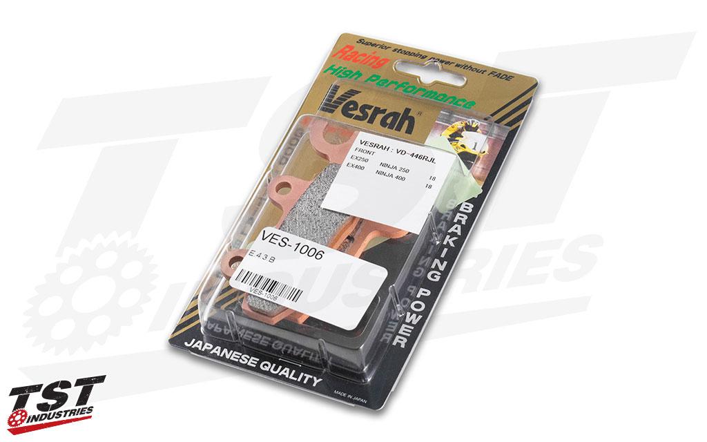 Vesrah RJL Front Brake Pads for Kawasaki Ninja 400