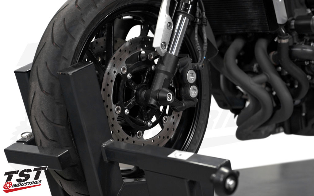 Womet-Tech Fork Slider kit installed on the Yamaha XSR900.