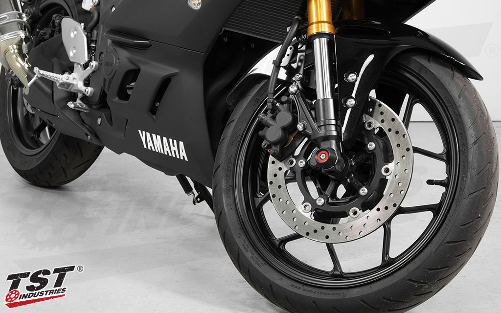 Gain quality crash protection for your Yamaha R3 forks and surrounding components.