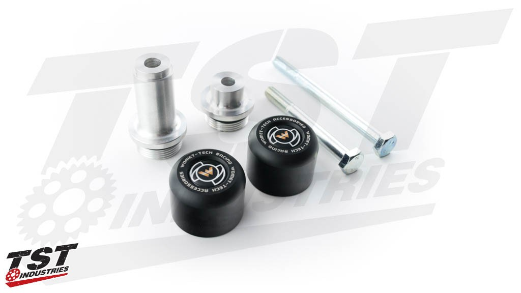 Protect your Suzuki with Womet-Tech Frame Sliders.