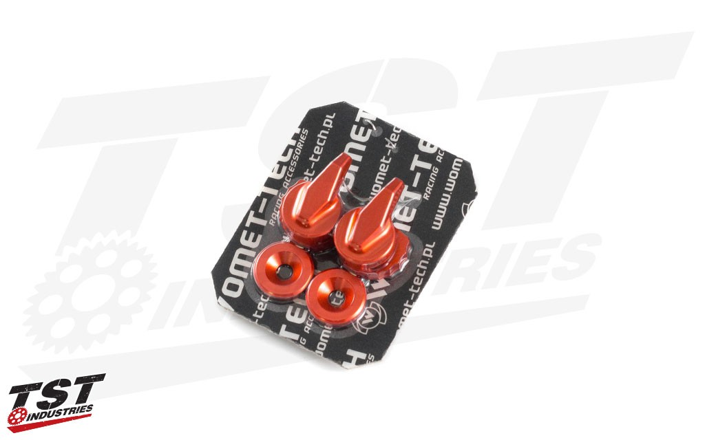 Womet-Tech Evo Lever Anodized Adjuster in Red.