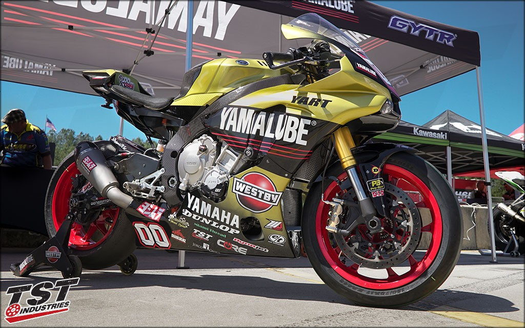 This exact kit is used by MotoAmerica Team Westby