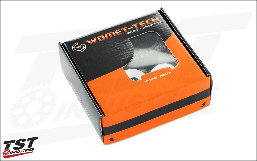 Womet Tech MotoAmerica Frame Slider Packaging